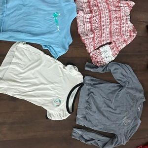 4 shirts girls all pre owned